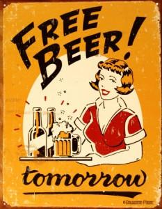 Безплатен обяд може и да няма, но безплатна бира - ИМА!
