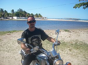 Георги Лозев с любимия си мотор