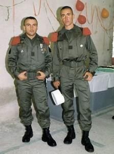 Георги (вдясно) на служба в Легиона