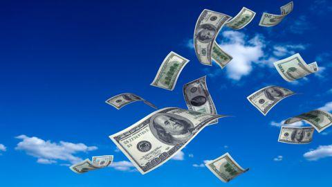 money-falling