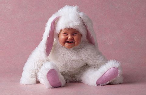 Cute Smiling Bunny Baby