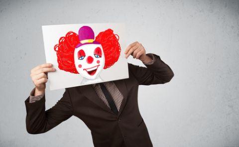 клоун бизнесмен